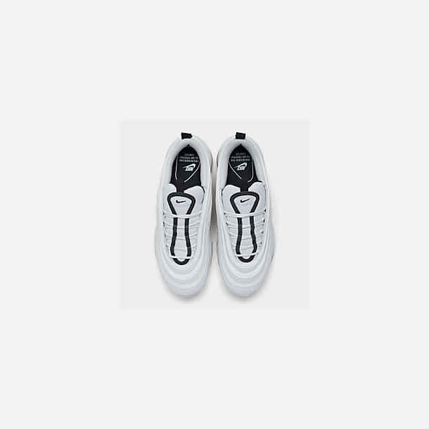 Back view of Women's Nike Air Max 97 Casual Shoes in White/Black/Summit White/White