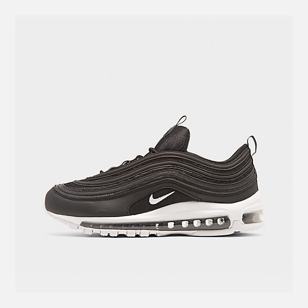 Right view of Men's Nike Air Max 97 Casual Shoes in Black/White