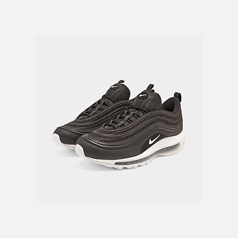 Three Quarter view of Men's Nike Air Max 97 Casual Shoes in Black/White