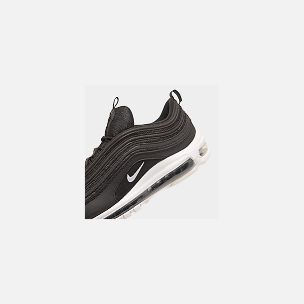 Front view of Men's Nike Air Max 97 Casual Shoes in Black/White