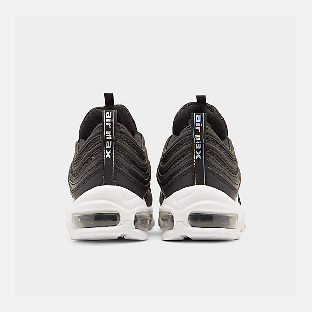Left view of Men's Nike Air Max 97 Casual Shoes in Black/White