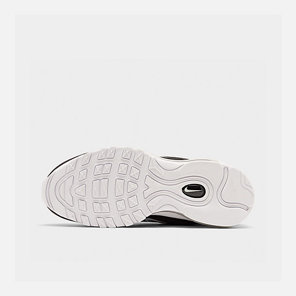 Bottom view of Men's Nike Air Max 97 Casual Shoes in Black/White