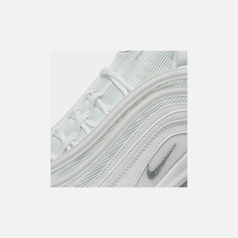 new style f18a7 5c421 Front view of Men s Nike Air Max 97 Casual Shoes in White Wolf Grey