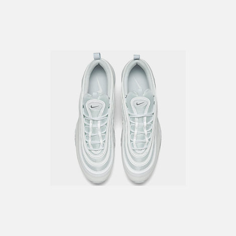 Back view of Men's Nike Air Max 97 Casual Shoes in White/Wolf Grey/Black