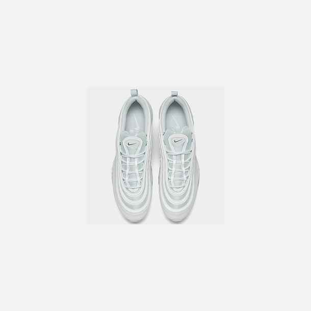 677abd30bd Back view of Men's Nike Air Max 97 Casual Shoes in White/Wolf Grey/