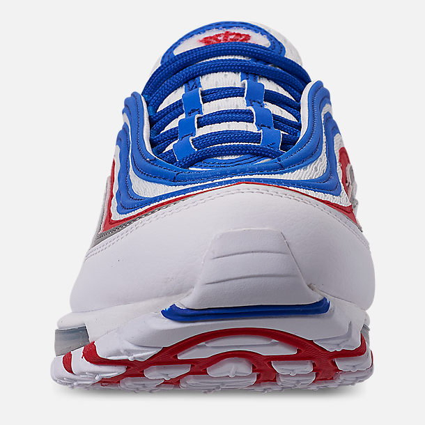 Left view of Men's Nike Air Max 97 Casual Shoes in Game Royal/Metallic Silver/Unversity Red