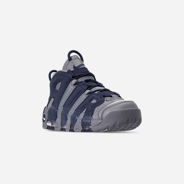 quality design 98fed d16ce Three Quarter view of Men s Nike Air More Uptempo  96 Basketball Shoes in  Cool Grey