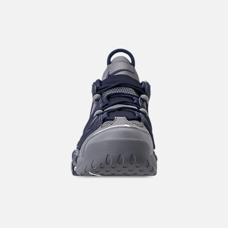 Front view of Men's Nike Air More Uptempo '96 Basketball Shoes in Cool Grey/White/Mid Navy