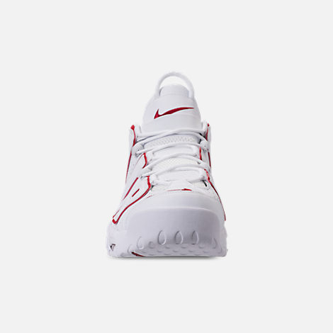 Front view of Men's Nike Air More Uptempo '96 Basketball Shoes in White/Varsity Red/White