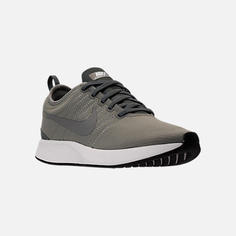 Three Quarter view of Men's Nike Dualtone Racer SE Casual Shoes in Dark Stucco/River Rock