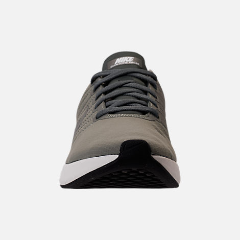 Front view of Men's Nike Dualtone Racer SE Casual Shoes in Dark Stucco/River Rock