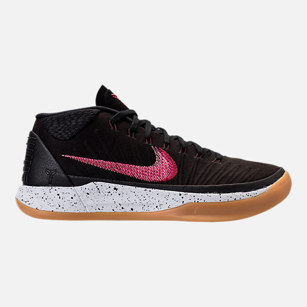 Right view of Men's Nike Kobe AD Mid Basketball Shoes in Black/Sail/Gum