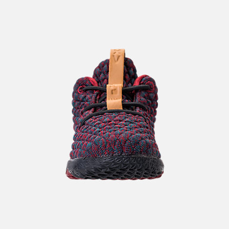 Front view of Kids' Toddler Nike LeBron 15 Basketball Shoes in Dark Atomic Teal/Ale Brown/Red