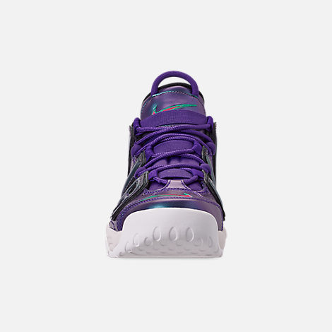 cdf6cd9469 Front view of Big Kids' Nike Air More Uptempo SE Basketball Shoes in Court  Purple