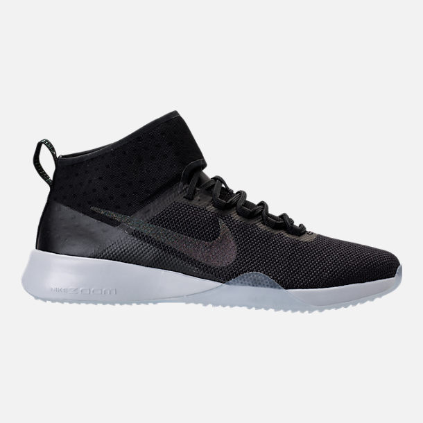 Right view of Women's Nike Air Zoom Strong 2 Metallic Training Shoes in Black/Multi-Color/Pure Platinum