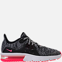Girls' Grade School Nike Air Max Sequent 3 Running Shoes