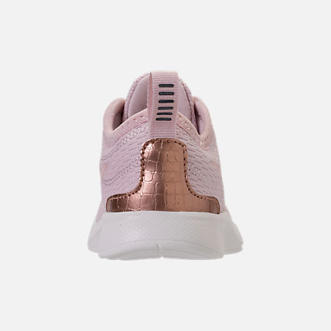 Back view of Girls' Toddler Nike Dualtone Racer Casual Shoes in Barely Rose/Metallic Red Bronze