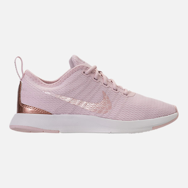 Right view of Girls' Preschool Nike Dualtone Racer Casual Shoes in Barely Rose/Metallic Red Bronze