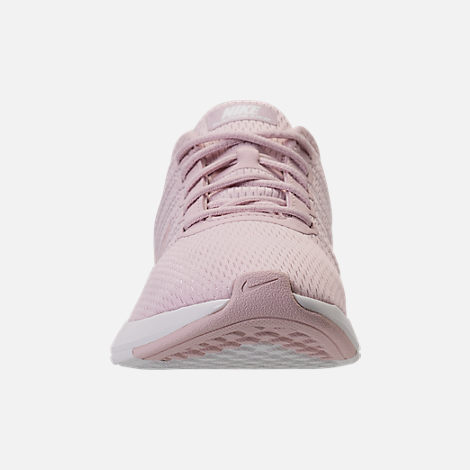 Front view of Girls' Preschool Nike Dualtone Racer Casual Shoes in Barely Rose/Metallic Red Bronze