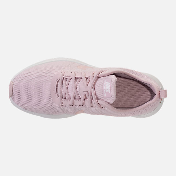 Top view of Girls' Preschool Nike Dualtone Racer Casual Shoes in Barely Rose/Metallic Red Bronze