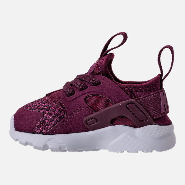 Left view of Boys' Toddler Nike Air Huarache Run Ultra SE Casual Shoes in Bordeaux/Tea Berry/Black