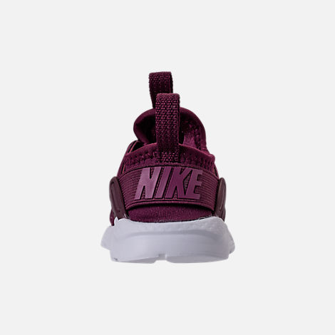 Back view of Boys' Toddler Nike Air Huarache Run Ultra SE Casual Shoes in Bordeaux/Tea Berry/Black