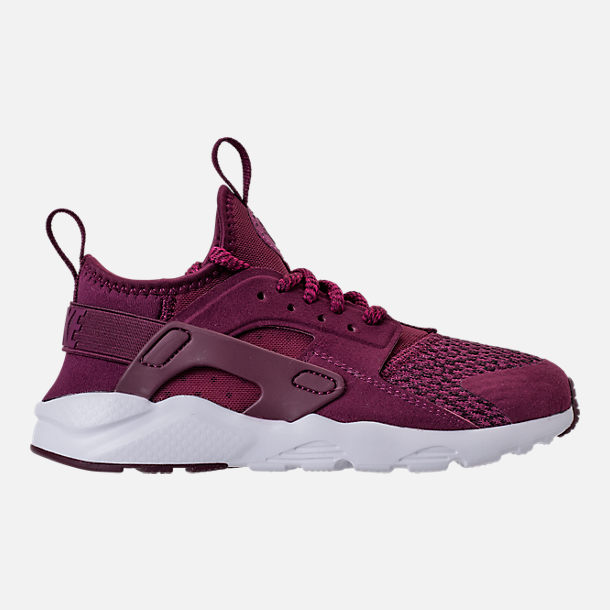 Right view of Boys' Preschool Nike Air Huarache Run Ultra SE Casual Shoes in Bordeaux/Tea Berry/Black