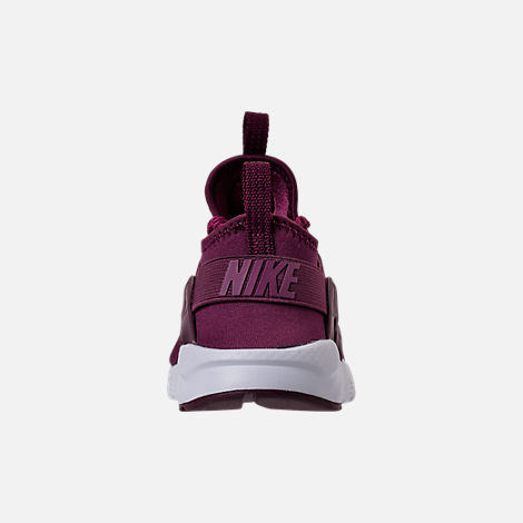 Back view of Boys' Preschool Nike Air Huarache Run Ultra SE Casual Shoes in Bordeaux/Tea Berry/Black