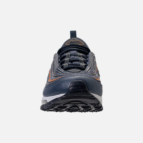 Front view of Boys' Grade School Nike Air Max 97 UL '17 SE Casual Shoes in Thunder Blue/Dark Obsidian/Ale Brown