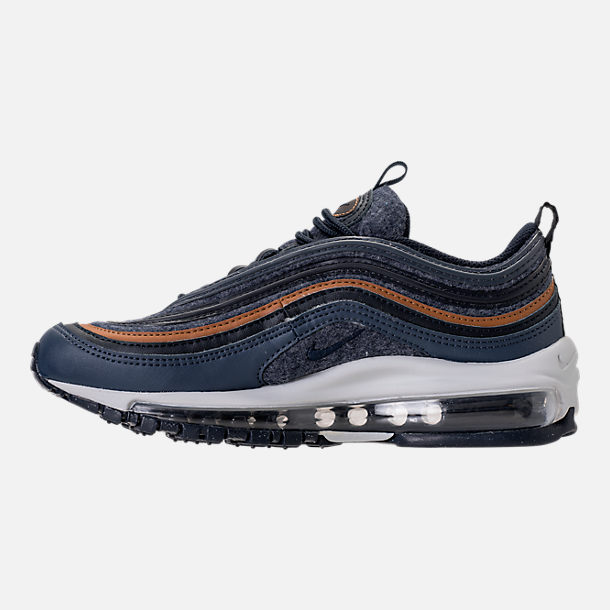 Left view of Boys' Grade School Nike Air Max 97 UL '17 SE Casual Shoes in Thunder Blue/Dark Obsidian/Ale Brown