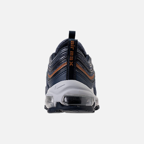 Back view of Boys' Grade School Nike Air Max 97 UL '17 SE Casual Shoes in Thunder Blue/Dark Obsidian/Ale Brown