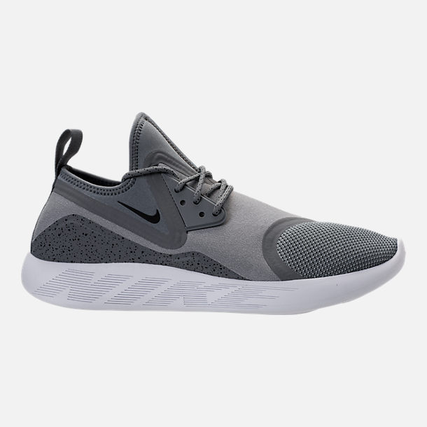 Right view of Men's Nike Lunar Charge Essential Running Shoes in Cool Grey /Black/