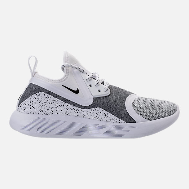 Right view of Men's Nike Lunar Charge Essential Running Shoes in White/Black/White