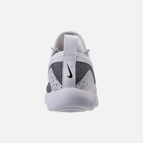 Back view of Men's Nike Lunar Charge Essential Running Shoes in White/Black/White
