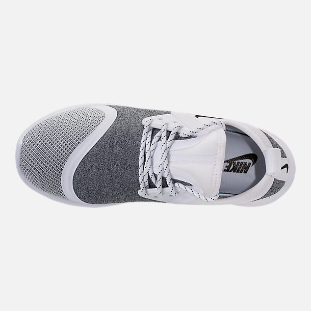 Top view of Men's Nike Lunar Charge Essential Running Shoes in White/Black/White