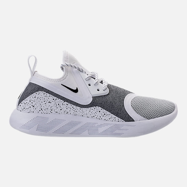 Right view of Women's Nike Lunar Charge Essential Casual Shoes in White/Black/White