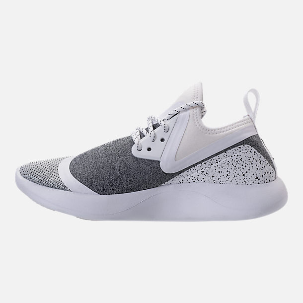Left view of Women's Nike Lunar Charge Essential Casual Shoes in White/Black/White
