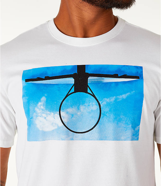 Detail 1 view of Men's Nike Dry DayDream Basketball T-Shirt in White