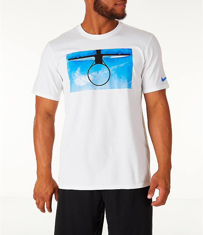 Front view of Men's Nike Dry DayDream Basketball T-Shirt in White