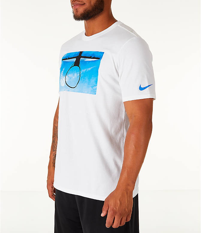 Front Three Quarter view of Men's Nike Dry DayDream Basketball T-Shirt in White