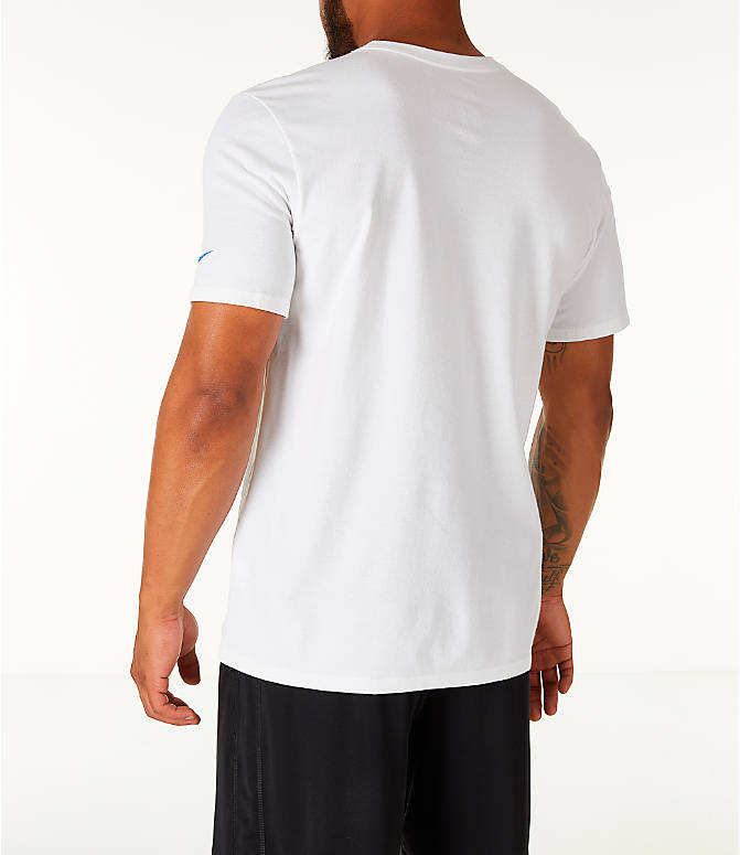 Back Left view of Men's Nike Dry DayDream Basketball T-Shirt in White