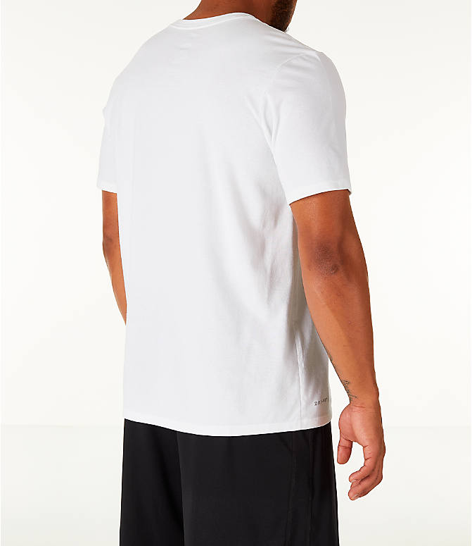 Back Right view of Men's Nike Dry DayDream Basketball T-Shirt in White