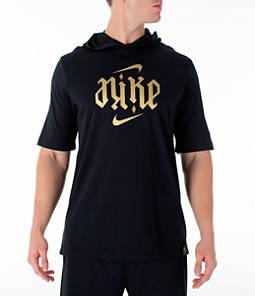 Men's Nike Dry LeBron James Anogram Short-Sleeve Hoodie
