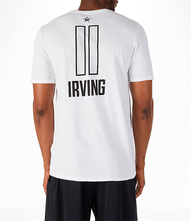 Front view of Men's Air Jordan NBA Kyrie Irving All-Star Name and Number T-Shirt in White