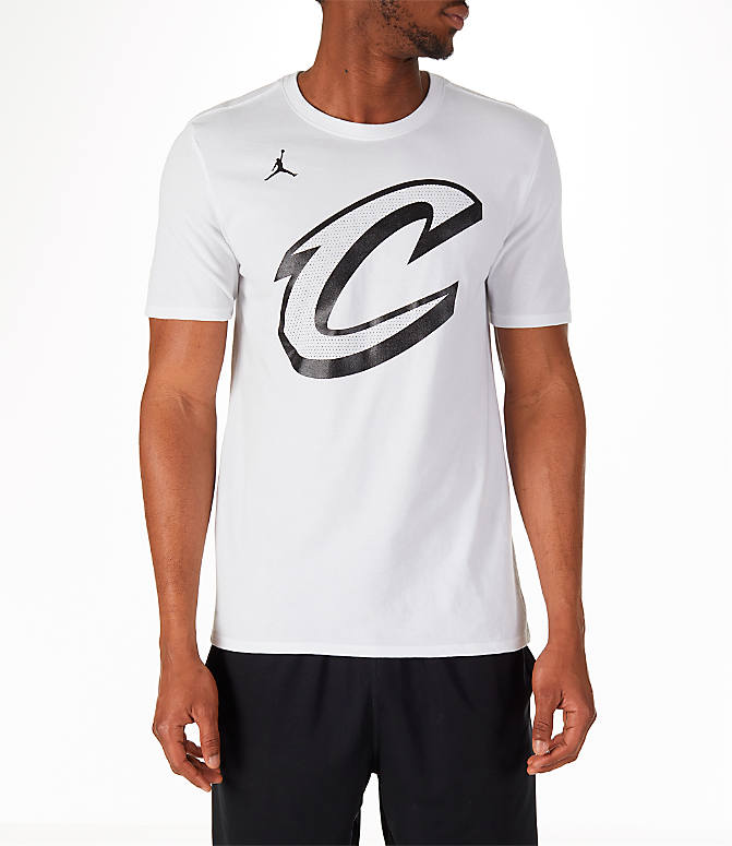 Back view of Men's Air Jordan NBA LeBron James All-Star Name and Number T-Shirt in White