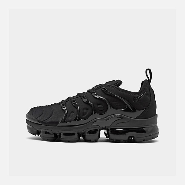 5ee446529a Right view of Men's Nike Air VaporMax Plus Running Shoes in Black/Black/Dark