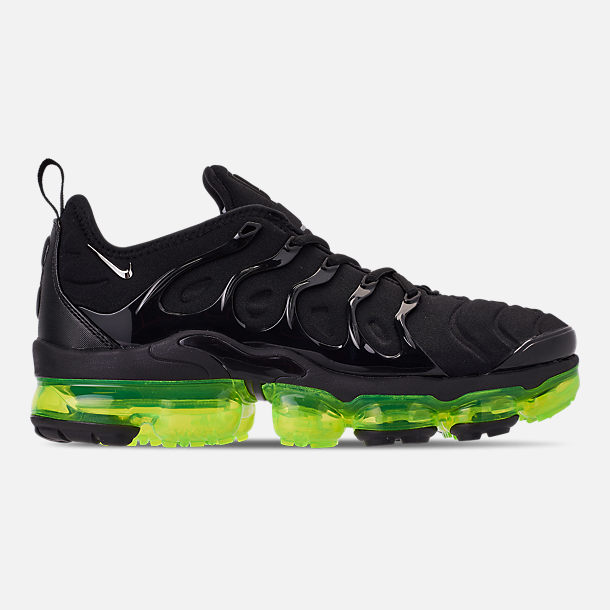 cf677d3d4b721 Right view of Men s Nike Air VaporMax Plus Running Shoes in Black Reflect  Silver