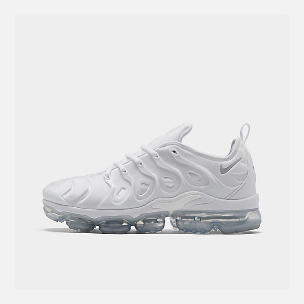 12269fca602 Right view of Men s Nike Air VaporMax Plus Running Shoes in White Pure  Platinum