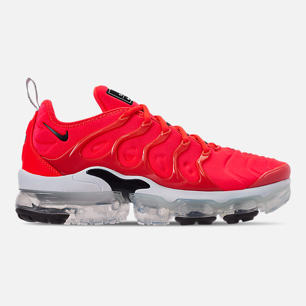 factory price 77098 ba732 Right view of Men s Nike Air VaporMax Plus Running Shoes in Bright Crimson  Black