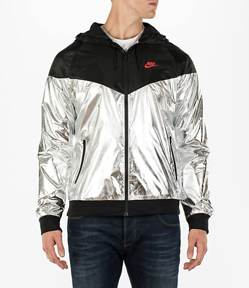 innovative design a43ca 2ae84 Mens Nike Sportswear Gold Foil Windrunner Jacket. Front view .
